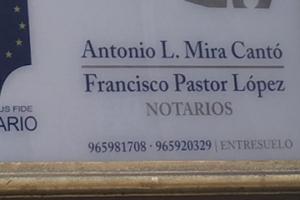 NOTARÍA DE D. FRANCISCO PASTOR