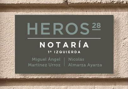 NOTARÍA HEROS 28-MIGUEL ÁNGEL MARTINEZ Y NICOLÁS ALMARZA