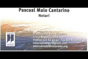 Notaria de Begur Pascual Malo
