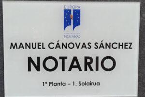 Notaría de D. Manuel Fernando Cánovas Sánchez