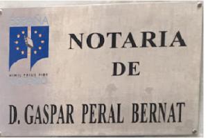 Notario Gaspar Peral Bernat